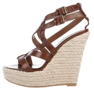 Burberry Leather Platform Sandals