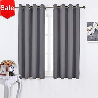 NICETOWN Blackout Curtains Panels for Bedroom - Window Treatment Thermal Insulated Solid Grommet Blackout Drapes for Living Room (Set of 2 Panels