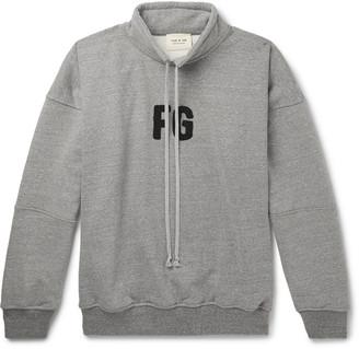 Fear Of God Oversized Logo-Appliqued Loopback Cotton-Blend Jersey Sweatshirt - Men - Gray