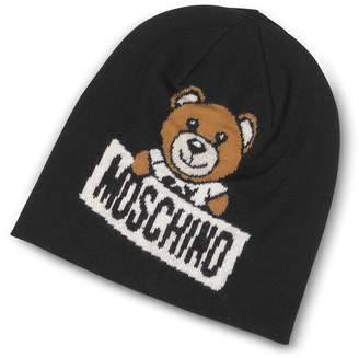 Moschino Teddy Bear Black Wool Beanie