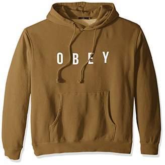 Obey Men's Anyway Hooded Pigment Fleece Sweatshirt