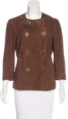 Tory Burch Suede Double-Breasted Jacket