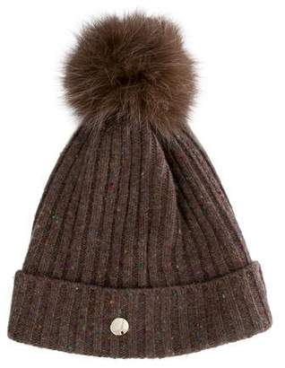 Yves Salomon Fox Fur Pom-Pom Beanie w/ Tags