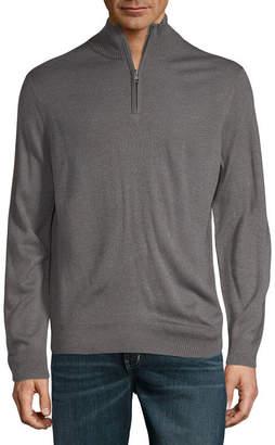 Dockers Mock Neck Long Sleeve Pullover Sweater