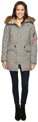 Alpha Industries - Altitude Parka Women's Coat $200 thestylecure.com