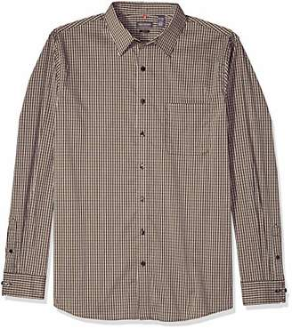 Van Heusen Men's Slim Fit Traveler Long Sleeve Button Down Stretch Black/Khaki/Grey Shirt