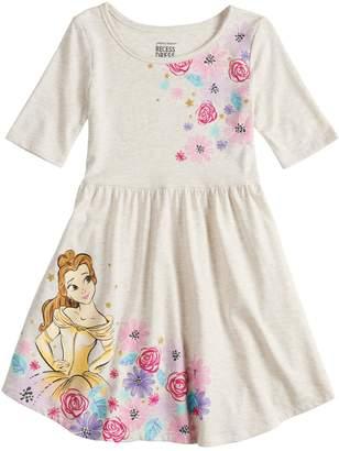 Disney's Beauty & The Beast Girls 4-10 Print Skater Dress by Jumping Beans