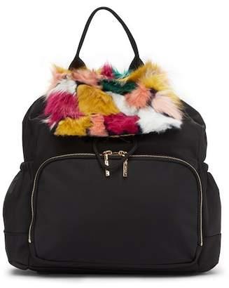 Milly Nylon Faux Fur Diaper Bag