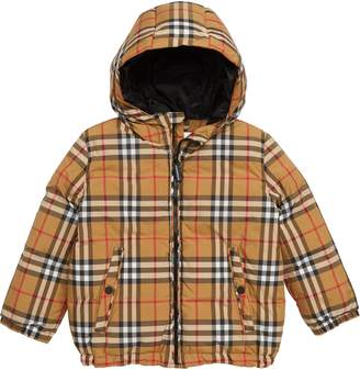 Burberry Rio Check Hooded Jacket