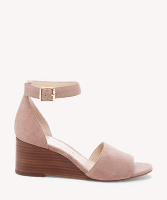 Sole Society Women's Kenia Ankle Strap Wedges Dusty Rose Size 5 Suede From