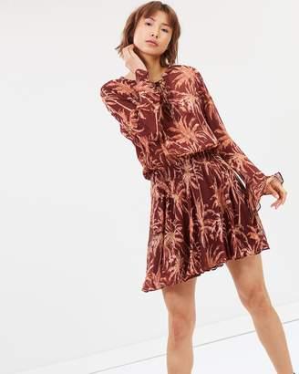 Maison Scotch Printed Lace-Up Dress