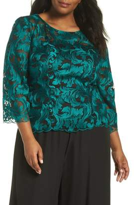 7452bb788f8 Alex Evenings Embroidered Blouse (Plus Size)