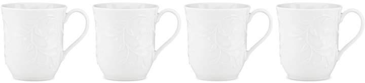 Lenox Opal Innocence Carved Set of 4 Mugs