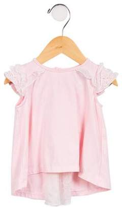Camilla Girls' Bow-Accented Short Sleeve Top