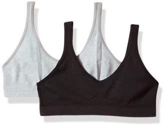 Hanes Girls' Big Seamless ComfortFlex Fit Cozy Pullover Bra 2-Pack