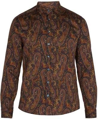 Etro Point-collar paisley-print cotton shirt