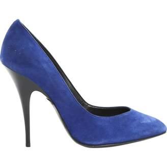 Giuseppe Zanotti Blue Suede Heels