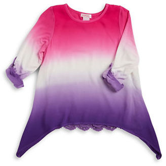 Design History Girls 7-16 Asymmetric Tie Dye Top $44 thestylecure.com