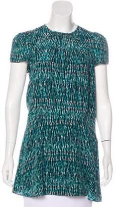 Proenza Schouler Silk Tie-Dye Tunic