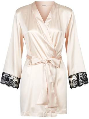 af9b162d68 Gilda   Pearl Silk and Lace Robe