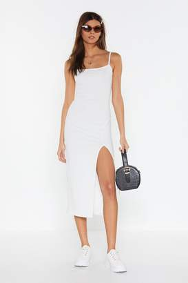 Nasty Gal Slit the Jackpot Ribbed Midi Dress