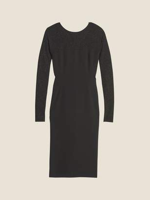 DKNY Crepe Shine V-Back Dress