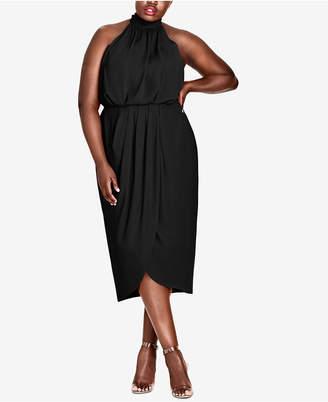 City Chic Trendy Plus Size Halter Midi Dress