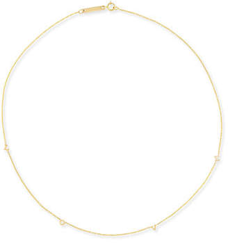 Zoe Chicco 14K Scattered LOVE Station Necklace
