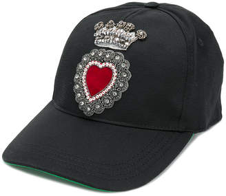 Dolce & Gabbana heart applique baseball-style hat
