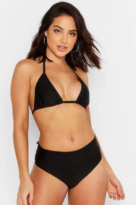 boohoo Triangle High Waisted Bikini