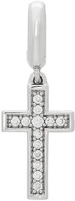 Silver Cross FINE JEWELRY PS Personal Style Cubic Zirconia Sterling Charm