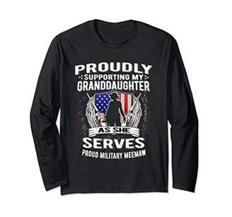 Support My Granddaughter As She Serves Military Meemaw Shirt