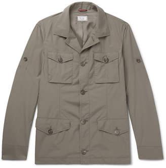 Brunello Cucinelli Cotton Field Jacket - Men - Green