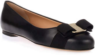 Salvatore Ferragamo Varina Black Leather Ballerinas