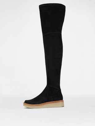 Kyra Stretch Suede Thigh High Boot $498 thestylecure.com