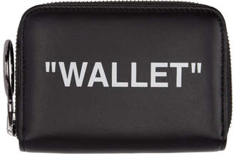 Off-White Black Quote Zip Wallet