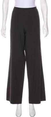 Armani Collezioni High-Rise Wide-Leg Pants