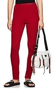 Prada Women's Logo-Waistband Rib-Knit Leggings - Red