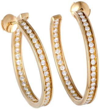 Cartier Heritage  18K 1.80 Ct. Tw. Diamond Hoops