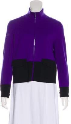Akris Punto Wool Zip-Up Jacket