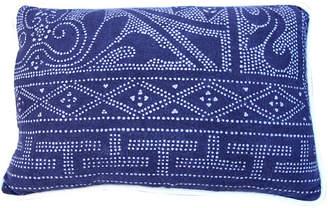 One Kings Lane Vintage Blue & White Batik Textile Pillow