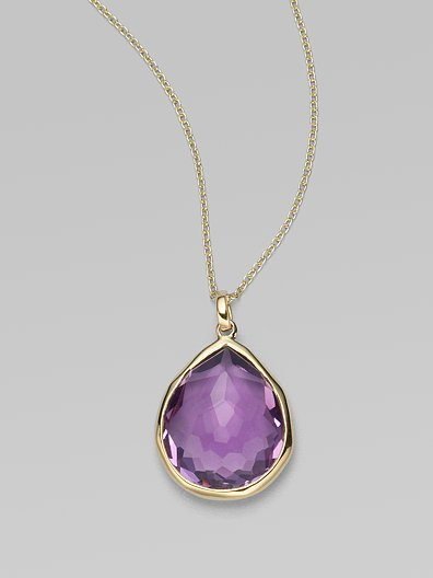 Ippolita Amethyst & 18K Yellow Gold Necklace
