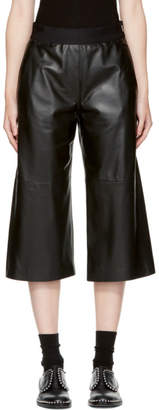 Neil Barrett Black Leather Slouch Pants