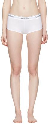 Calvin Klein Underwear White Modern Boy Shorts $20 thestylecure.com