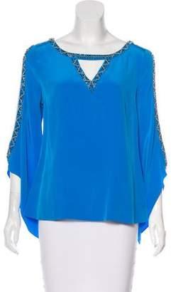 Madison Marcus Embellished Silk Blouse