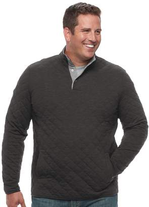 Croft & Barrow Big & Tall Classic-Fit Quilted Mockneck Pullover