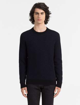 Calvin Klein slim fit textured crewneck sweater