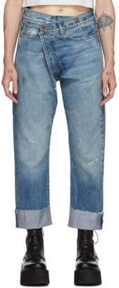 R 13 Blue Crossover Jeans