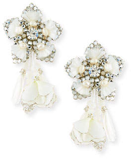 Ranjana Khan Emmanuelle Petal Clip-On Earrings
