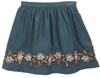 Peek Embroidered Skirt